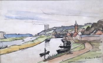 Maas bij Maastricht door Lucie van Dam van Isselt