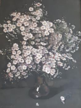 Herfstchrysanten 'de Melkweg' door Lucie van Dam van Isselt