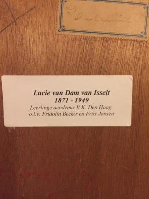 Achterzijde onkruid door Lucie van Dam van Isselt