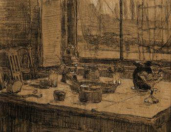 Ontbijttafel Veere (ca. 1910) door Lucie van Dam van Isselt