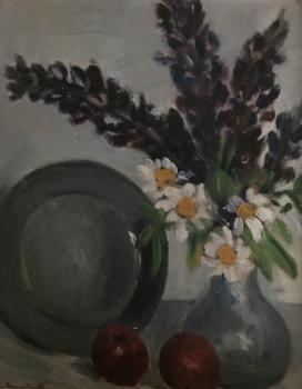 Stilleven met margrieten door Lucie van Dam van Isselt