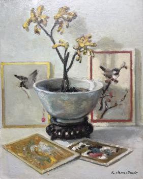 Gele orchidee door Lucie van Dam van Isselt