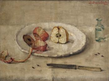 Geschilde appel door Lucie van Dam van Isselt