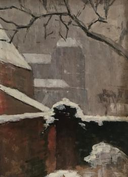 Winters uitzicht door Lucie van Dam van Isselt