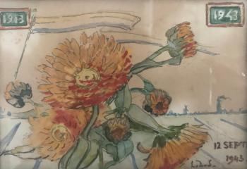 Felicitatie (1943) door Lucie van Dam van Isselt