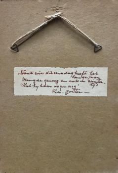 Achterzijde gedicht door Lucie van Dam van Isselt
