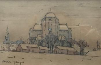 Grote Kerk, Veere (1920) door Lucie van Dam van Isselt