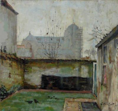 Ommuurde tuin door Lucie van Dam van Isselt