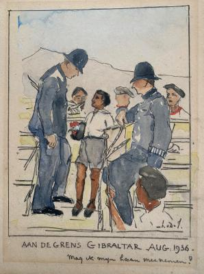 Gibraltar (1936) door Lucie van Dam van Isselt