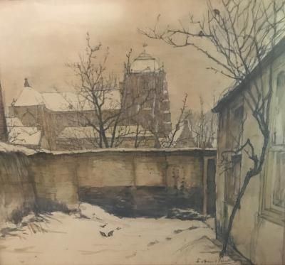 Wintertuin in Veere door Lucie van Dam van Isselt