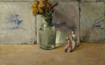 Vaasje met Chinese beeldjes (ca. 1935) door Lucie van Dam van Isselt