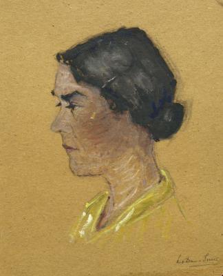 Portret Jeanne Bok (ca. 1939) door Lucie van Dam van Isselt