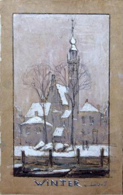 Winter door Lucie van Dam van Isselt