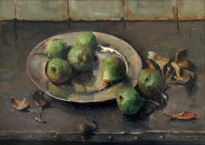 Stoofperen met slak (ca. 1915) door Lucie van Dam van Isselt