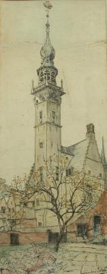 Stadhuis te Veere door Lucie van Dam van Isselt