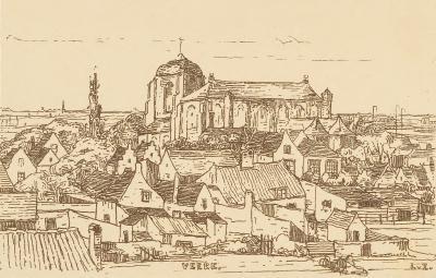 Veere (ca. 1910-1915) door Lucie van Dam van Isselt