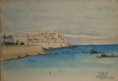 Antibes (1939) door Lucie van Dam van Isselt