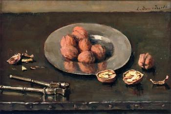 Walnoten op een tinnen bord (1923) door Lucie van Dam van Isselt