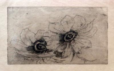 Anemonen (1908-1910) door Lucie van Dam van Isselt
