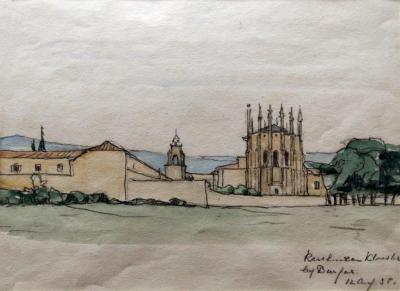 Karthuizer klooster te Burgos (1935) door Lucie van Dam van Isselt