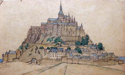 Mont St. Michel door Lucie van Dam van Isselt