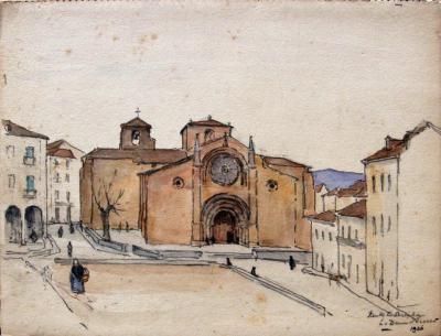 Kerk te Avila (1936) door Lucie van Dam van Isselt