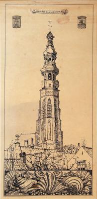 Lange Jan van Middelburg (ca. 1925) door Lucie van Dam van Isselt