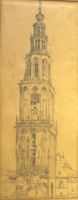 Martinitoren door Lucie van Dam van Isselt