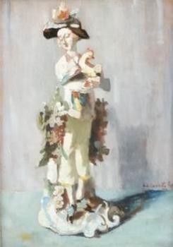 Porseleinen beeldje door Lucie van Dam van Isselt