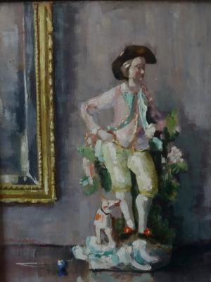 Beeldje uit Meissen door Lucie van Dam van Isselt