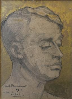 Portret Albert Plasschaert (1912) door Lucie van Dam van Isselt