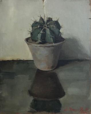 Cactusplantje door Lucie van Dam van Isselt
