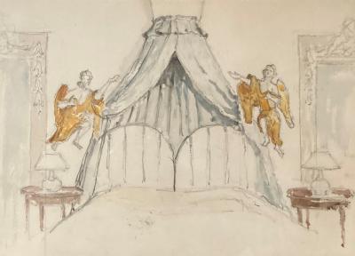 Hemelbed (ca. 1946-1948) door Lucie van Dam van Isselt