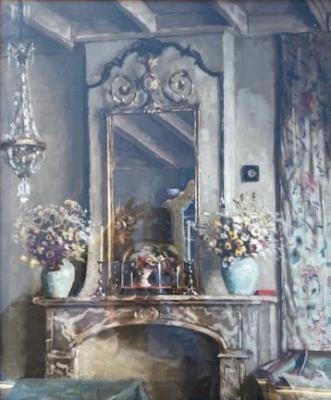 Interieur woonkamer Veere (ca. 1930) door Lucie van Dam van Isselt