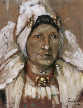 Portret Juffr. Roeting (1941) door Lucie van Dam van Isselt