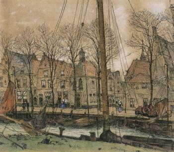 Kade te Veere door Lucie van Dam van Isselt