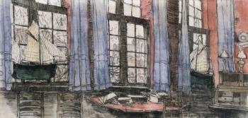 Schotse Huizen, de achterkamer door Lucie van Dam van Isselt