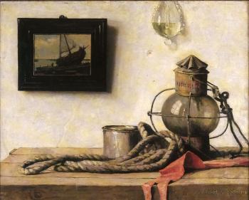 De oude scheepslantaarn (ca. 1918) door Lucie van Dam van Isselt
