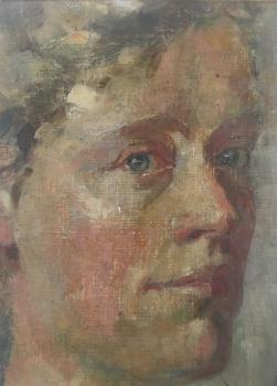 Zelfportret (1907) door Lucie van Dam van Isselt