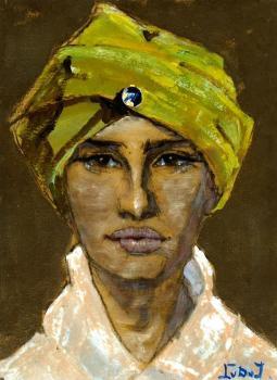 Pien Plasschaert als Indiase prinses (1925) door Lucie van Dam van Isselt