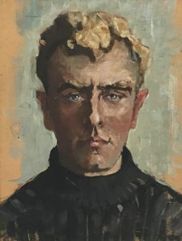 Evert Ekker jr (ca. 1920) door Lucie van Dam van Isselt