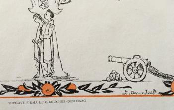 Detail rijmprent door Nijhoff, geïllustreerd door Lucie van Dam van Isselt