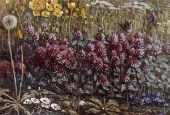 Weidebloemen (1918) door Lucie van Dam van Isselt