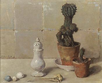 Cactus met peperbus (1923-1924) door Lucie van Dam van Isselt