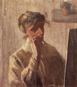 Zelfportret (ca. 1909) door Lucie van Dam van Isselt