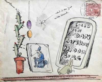 Envelop van HW van Loon voor Lucie